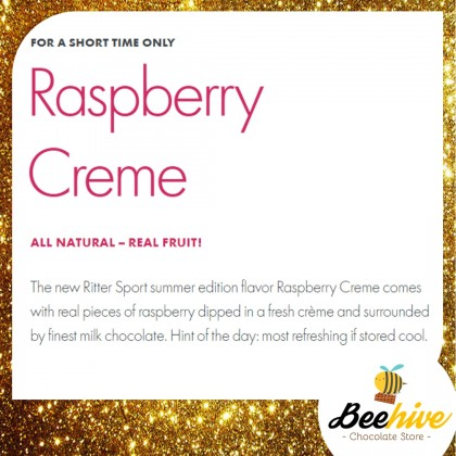 Ritter Sport Raspberry Crème Chocolate 100g [Limited Edition]