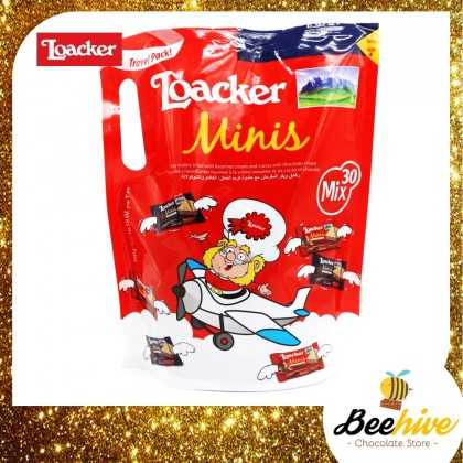 Loacker Minis Mix Chocolate Wafer 30packets 300g