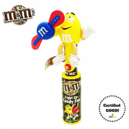 M&M's Light Up Candy Fan 20g (Yellow)