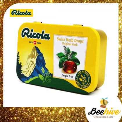 Ricola Sugar Free LemonMint Swiss Herb Candy 75g [Limited Edition]
