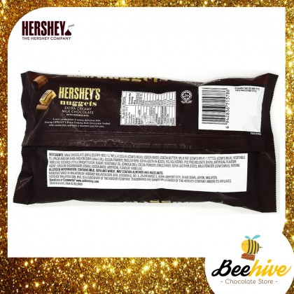 Hersheys Chocolate Nuggets Extra Creamy Milk With Cookie Bits 344g