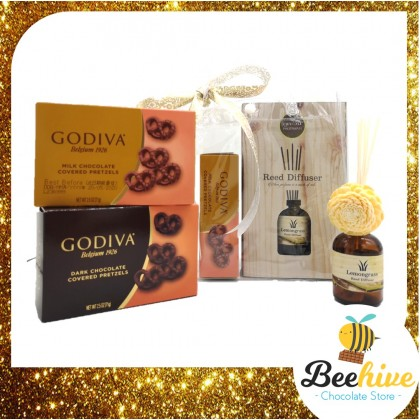 Beehive Chocolate Reed Diffuser Aromatherapy Premium Christmas Gift Set