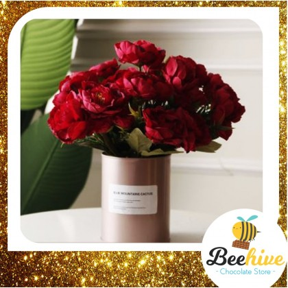 Beehive Chocolate Peony Flowers with Ferrero Rocher and Geisha Chocolates
