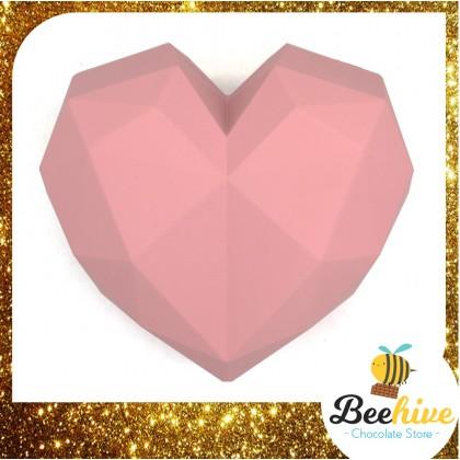 Beehive Chocolate Heart Shape Diamond Gift Box with Flowers and Hersheys Kisses Chocolate
