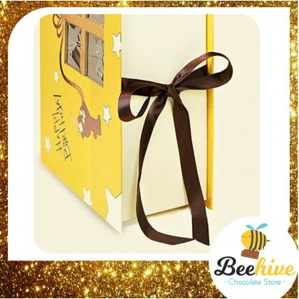 Beehive Chocolate Birthday Bear Yellow Gift Box with Chocolate Surprise