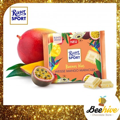 Ritter Sport Buenos Dias - White Mango Passion Fruit Chocolate 100g [Limited Edition]