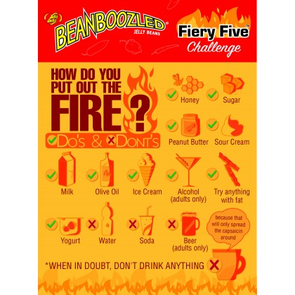 Jelly Belly Bean Boozled Flaming Five 54g