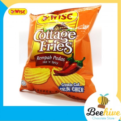 Wise Cottage Fries Potato Chips Hot & Spicy 65g