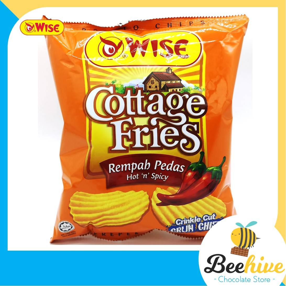 Wise Cottage Fries Potato Chips Hot Spicy 65g