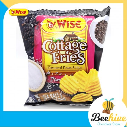 Wise Cottage Fries Potato Chips Sea Salt & Peppercorn 65g