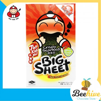 Tao Kae Noi Big Sheet Seaweed Spicy 12x3.2g