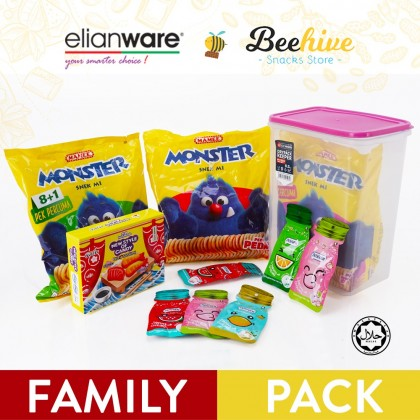 Elianware x Beehive Chocolate Value Pack Family Snack Set with Food Container