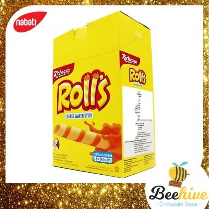 Richeese Nabati Roll's Cheese Wafer Stick 20x8g