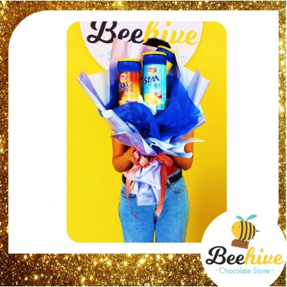 Beehive Chocolate Lays Stax Premium Chips Bouquet