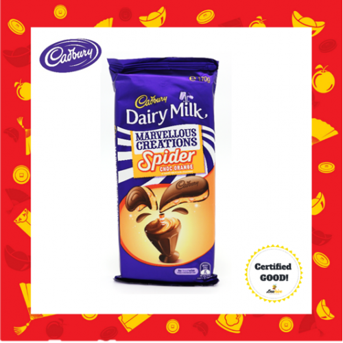 Cadbury Dairy Milk Marvellous Creations Spider Choc Orange Chocolate 170g