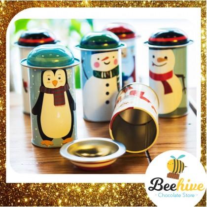 Christmas Door Gift Tin with Chocolates