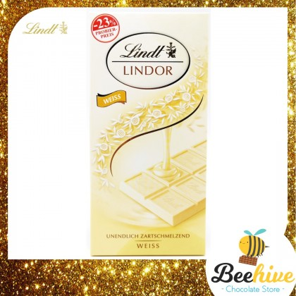 Lindt Lindor White Chocolate Bar 100g