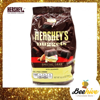 Hershey's Nuggets Special Dark with Almond Chocolate Classic Bag 299g