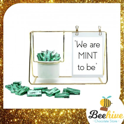 Beehive Chocolate Love Quotes Desk Decoration with Andes Mints Valentine Gift Set
