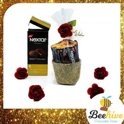 Beehive Chocolate Flowers Love Basket with Nabati Brownies Valentine Gift Set