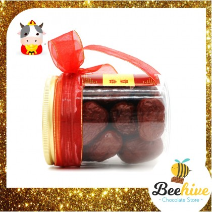 Chinese New Year CNY Healthy Snack Big Red Dates Gift Jar 155g