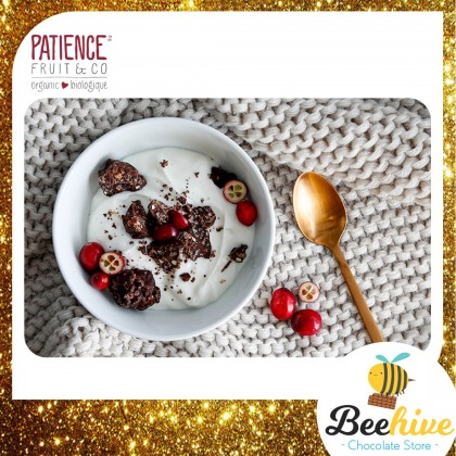 Patience 60% Dark Chocolate and Coconut with Cranberry Flakes 95g
