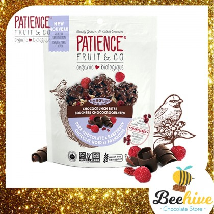 Patience 60% Dark Chocolate and Raspberry with Cranberry Flakes 95g