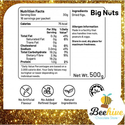 Big Nuts Soft Dried Figs 500g