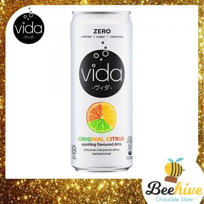 Vida Zero Original Citrus Sparkling Drink 325ml [Halal]