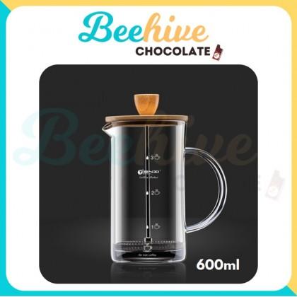 French Press Coffee Maker - Zen White [350ml/800ml]
