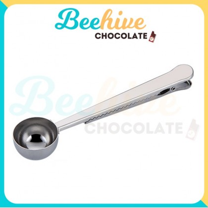 Premium Quality Stainless Steel Coffee Scoop with Clip