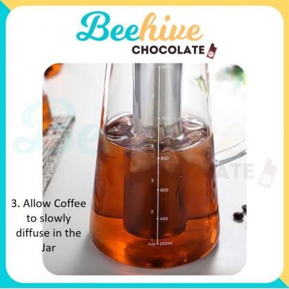 Cold Brew Coffee Maker Glass Jar 1200ml [Minimalistic Design]
