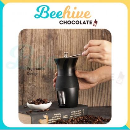 Ergonomic Hand Coffee Grinder with Ceramic Burr