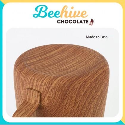 Wood Motif Milk Frothing Jug Latte Pourer