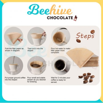 Paper Coffee Filter [Unbleached]