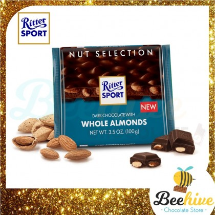 Ritter Sport Dark Whole Almonds 100g