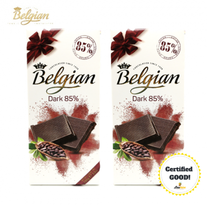 Belgian Dark 85% 2x100g [Twin Pack]