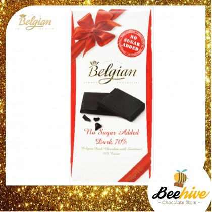 Belgian No Sugar Added Dark Chocolate 70% 100g
