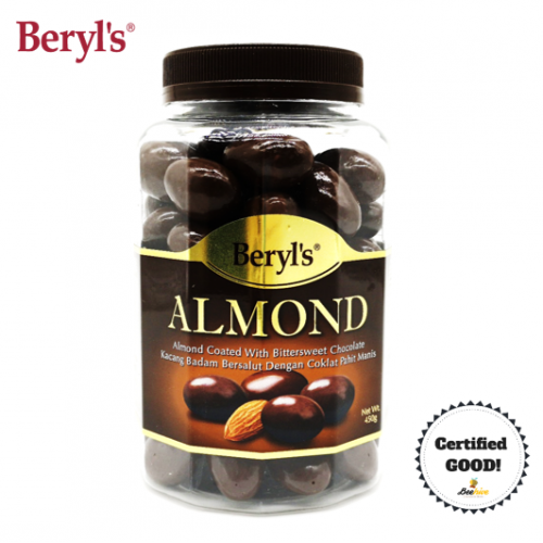 Beryl's Almond Coated with Bittersweet Chocolate Jar 450g