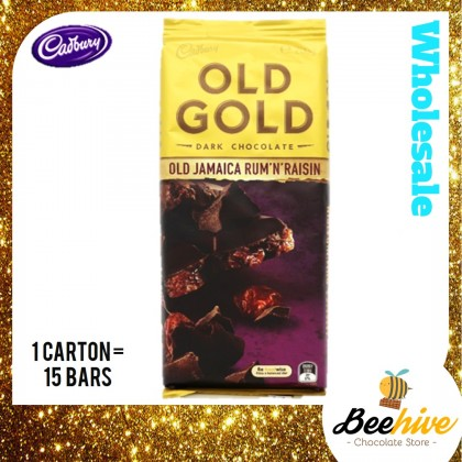 Cadbury Old Gold Jamaica Rum & Raisin Chocolate 180g