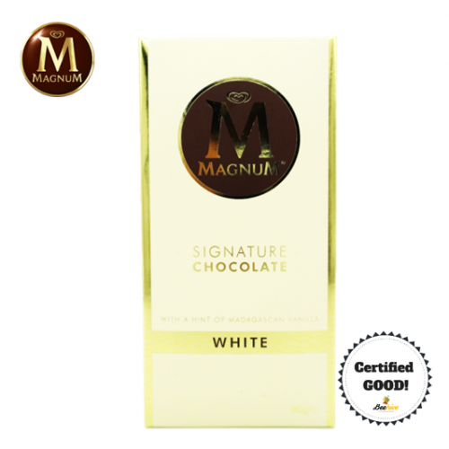 Magnum Signature Chocolate White with a Hint of Madagascan Vanilla 90g