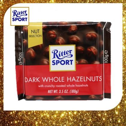 Ritter Sport Dark Whole Hazelnuts Chocolate 100g