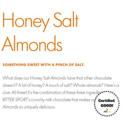 Ritter Sport Honey Salt Almonds Chocolate 100g