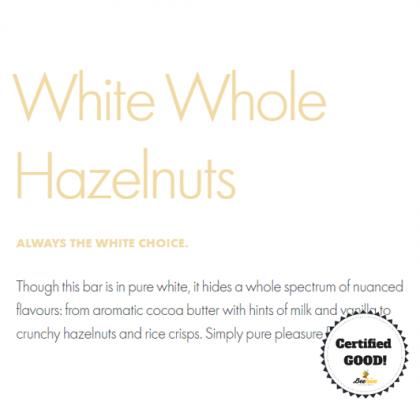 Ritter Sport White Whole Hazelnuts Chocolate 100g