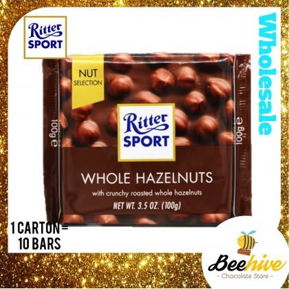 Ritter Sport Whole Hazelnuts Chocolate 100g
