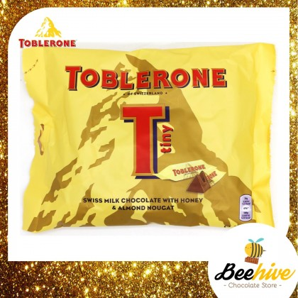 Toblerone Tiny Swiss Milk Chocolate with Honey & Almond Nougat 200g