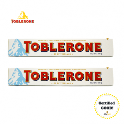 Toblerone White Chocolate 2x100g
