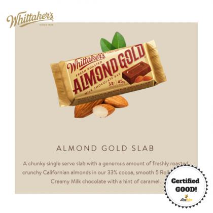 Whittaker's Almond Gold Chocolate 135g