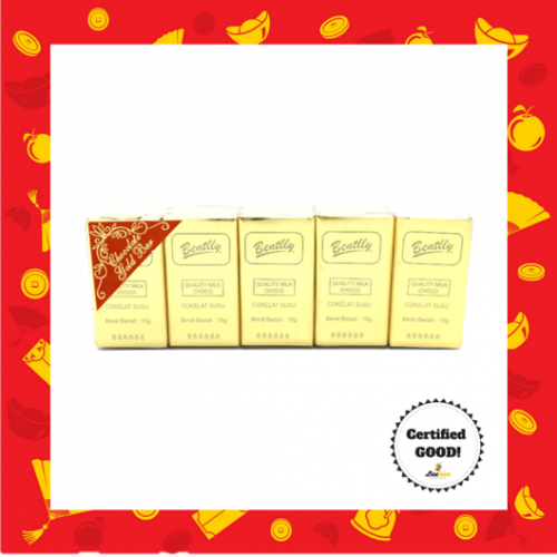 Bentlly Gold Bar Chocolate 40x15g