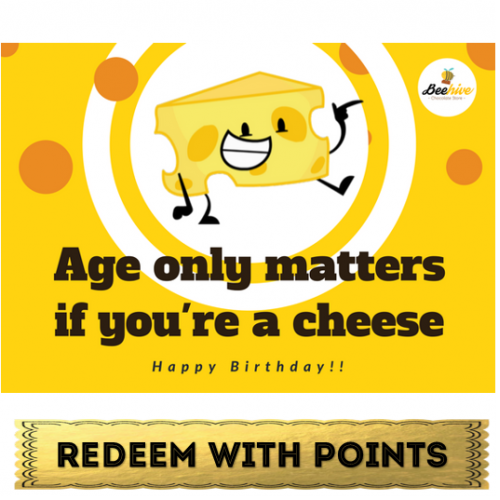 Beehive Cheesy Birthday Card